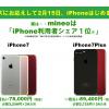 mineoがiPhone7/7plusを発売!気になる料金は?!