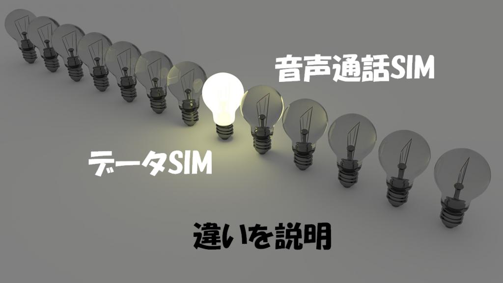 音声通話SIMとデータSIMの違い