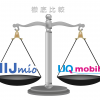 IIJmioとUQmobileのサービス・料金・速度の違いを徹底比較!どっちがいい?