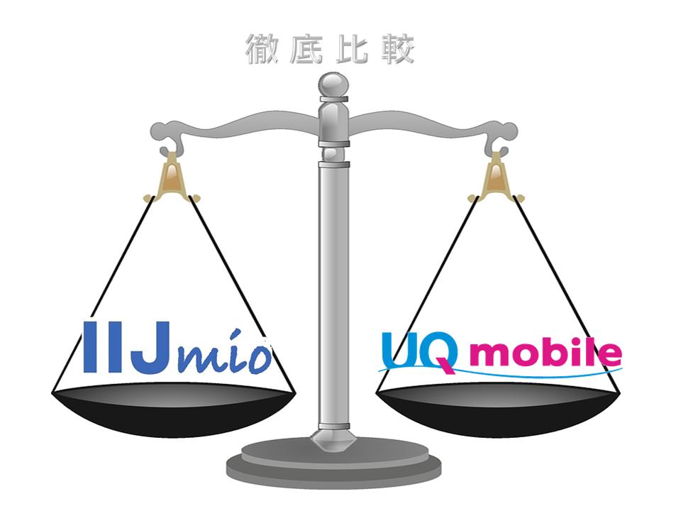 IIJmioとUQモバイルを徹底比較