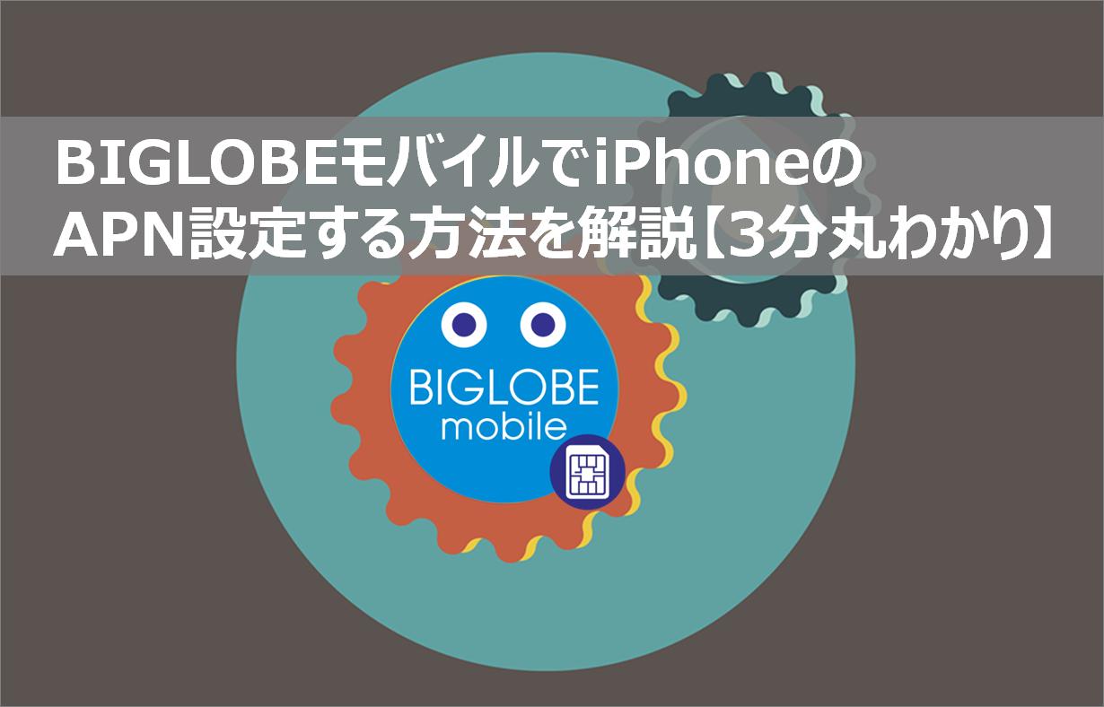 biglobeモバイルのapn設定方法